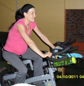 Marjorie enceinte 35 semaines - spinning